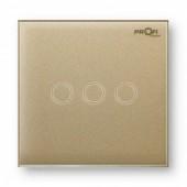 Выключатель сенсорный Profi therm 3TP, Pure Gold